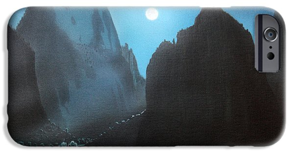 Night Angel iPhone Cases - Full Moon  ZION iPhone Case by Jerry Bokowski