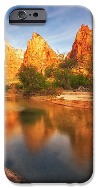 Patriarch iPhone Cases - Zion First Light iPhone Case by Darren  White