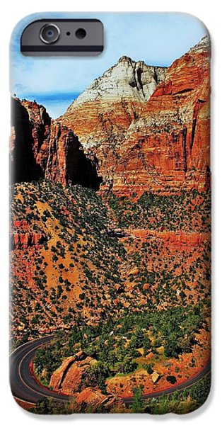 Zion Hairpin iPhone Case by Benjamin Yeager