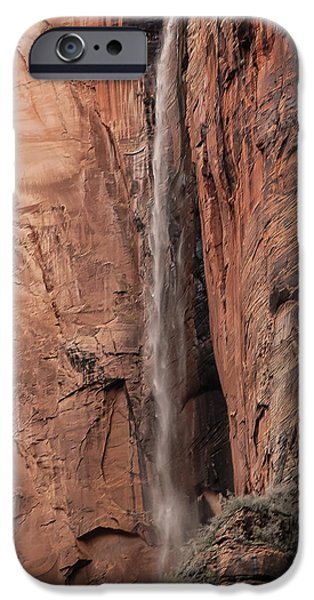 Red Rock iPhone Cases - Zion National Park 1 iPhone Case by Carl Nielsen