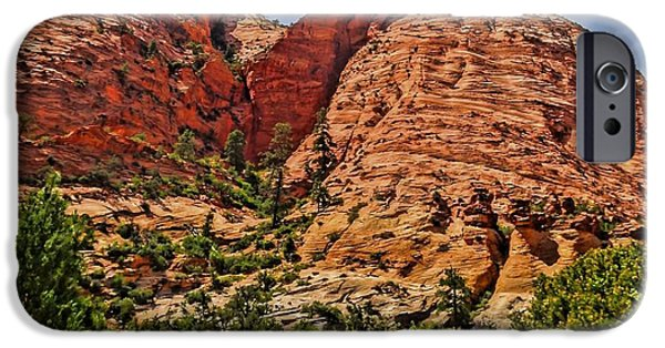 Patriarch iPhone Cases - Zion National Park In Summer iPhone Case by Dan Sproul