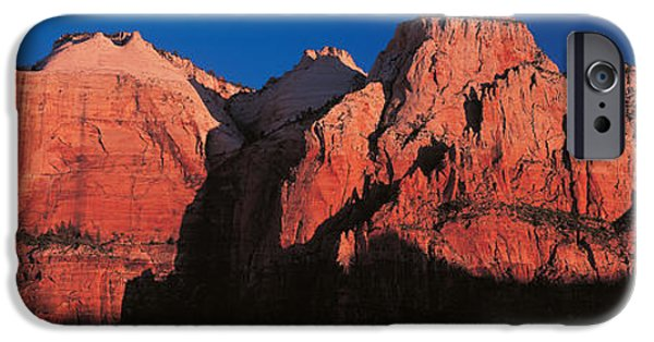 Mountain iPhone Cases - Zion National Park Ut Usa iPhone Case by Panoramic Images