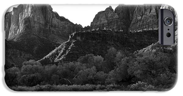 Cslanec iPhone Cases - Zion NP Utah iPhone Case by Christian Slanec