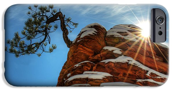 Canadian Photographer iPhone Cases - Zion National Park Sacred Earth iPhone Case by Bob Christopher