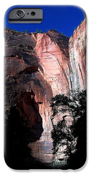 Red Rock iPhone Cases - Zion Silhouette 1 iPhone Case by Bill Caldwell -        ABeautifulSky Photography