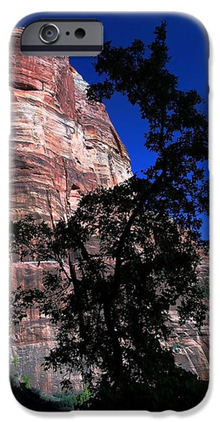 Angel Blues iPhone Cases - Zion Silhouette 2 iPhone Case by Bill Caldwell -        ABeautifulSky Photography