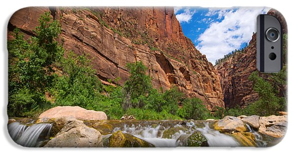 Michael Versprill iPhone Cases - Zion Temple Of Sinawava iPhone Case by Michael Ver Sprill