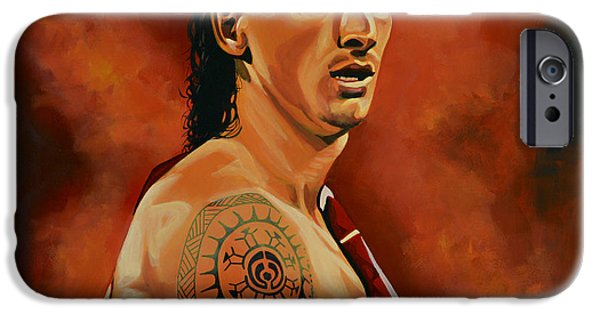 Male Athlete iPhone Cases - Zlatan Ibrahimovic iPhone Case by Paul Meijering