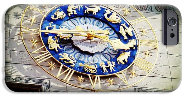 Marienplatz iPhone Cases - Zodiac Clock in Munich iPhone Case by Zinvolle Art