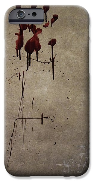 Attack iPhone Cases - Zombie Attack - Bloodprint iPhone Case by Nicklas Gustafsson