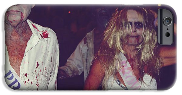 Candid Photographs iPhone Cases - Zombie Prom King and Queen iPhone Case by Laurie Search