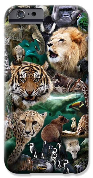 Preditor iPhone Cases - Zoo Collection iPhone Case by Dale Crum