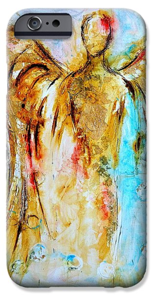Art By God iPhone Cases - Zophiel iPhone Case by Ivan Guaderrama