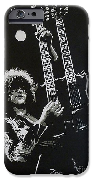 Jimmy Page iPhone Cases - Zoso iPhone Case by ID Goodall