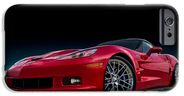 Red Digital Art iPhone Cases - Zr1 iPhone Case by Douglas Pittman