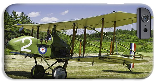 World War One Photographs iPhone Cases -  1916 Royal Aircraft F.E.8 World War One Airplane Photo Poster Print iPhone Case by Keith Webber Jr