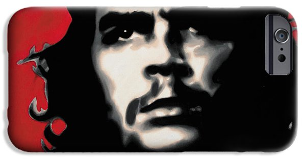 Ludzska Paintings iPhone Cases - - Che - iPhone Case by Luis Ludzska