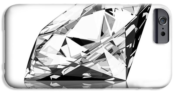 Solid iPhone Cases -  Diamond iPhone Case by Setsiri Silapasuwanchai