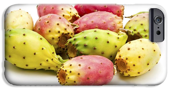 Cut-outs iPhone Cases -  Fruits of Opuntia ficus-indica  iPhone Case by Fabrizio Troiani