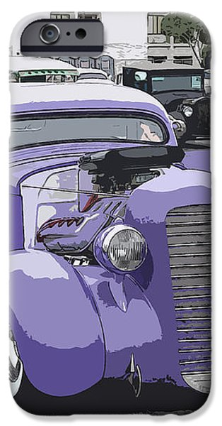 Hot Rod Purple iPhone Case by Steve McKinzie