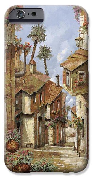 Village iPhone Cases -  Le Palme Sul Tetto iPhone Case by Guido Borelli