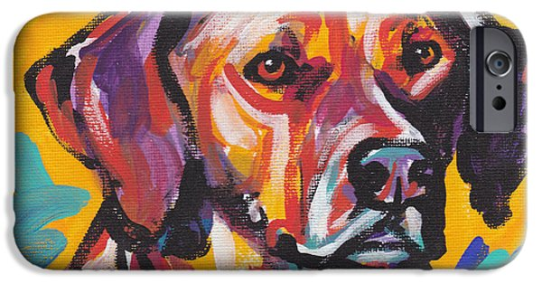 Ridgeback iPhone Cases -  Lion Hunter iPhone Case by Lea