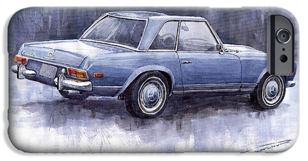 Auto iPhone Cases -  Mercedes Benz 280 SL W113 Pagoda  iPhone Case by Yuriy  Shevchuk