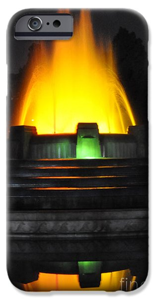 Mulholland Fountain Reflection iPhone Case by Clayton Bruster