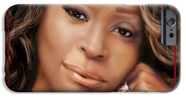 Super Stars iPhone Cases -  No Bread Crumbs Along The Way-Whitney iPhone Case by Reggie Duffie