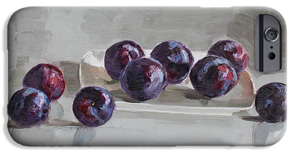 Plum iPhone Cases -  Plums iPhone Case by Ylli Haruni