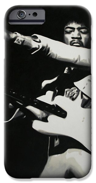 James Marshall Jimi Hendrix iPhone Cases - - Purple Haze - iPhone Case by Luis Ludzska