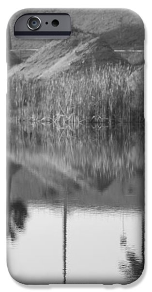 PYRIMIDS BY THE LAKESIDE CACHE iPhone Case by ROB HANS