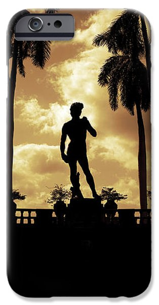 Replica of the Michelangelo statue at Ringling Museum Sarasota Florida iPhone Case by Mal Bray