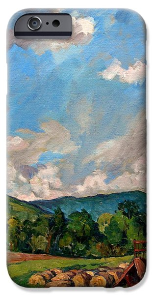 Recently Sold -  - Tree Art Print iPhone Cases -  Summer Farm Berkshires iPhone Case by Thor Wickstrom