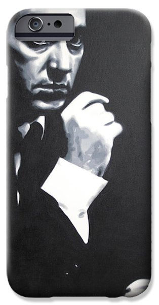 Francis Ford Coppola iPhone Cases - - The Godfather - iPhone Case by Luis Ludzska