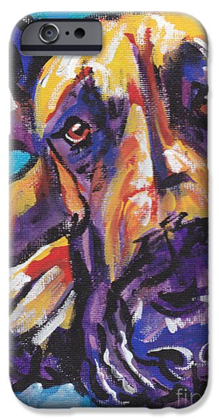 Great Dane iPhone Cases -  The Great Danish iPhone Case by Lea
