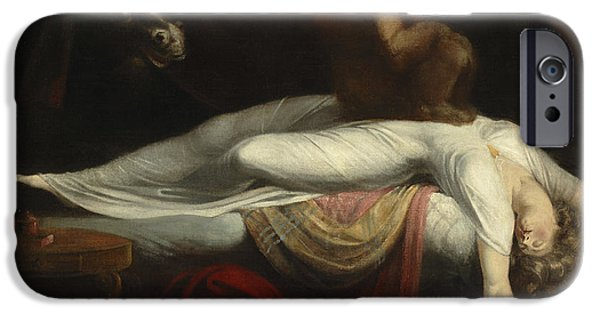 Creepy Paintings iPhone Cases -  The Nightmare iPhone Case by Henry Fuseli