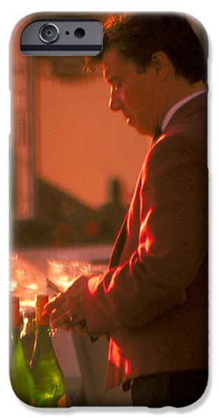 uncorking the wine iPhone Case by Carl Purcell