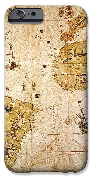 VESPUCCI'S WORLD MAP, 1526 iPhone Case by Granger
