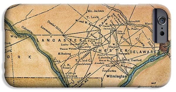 19th Century iPhone Cases - Underground Railroad Map iPhone Case by Granger