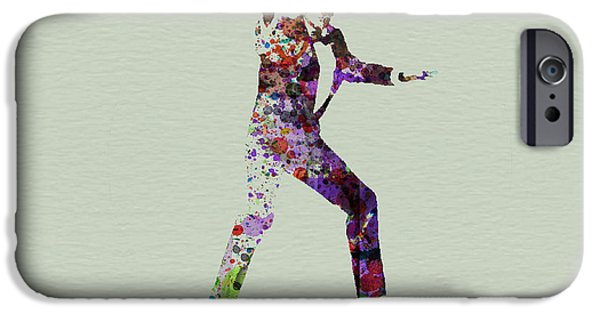 Actor Paintings iPhone Cases - 007 Watercolor iPhone Case by Naxart Studio