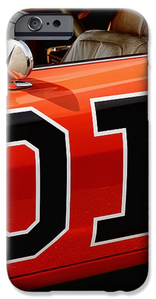 01 - The General Lee 1969 Dodge Charger iPhone Case by Gordon Dean II