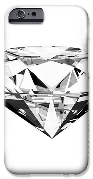 diamond iPhone Case by Setsiri Silapasuwanchai