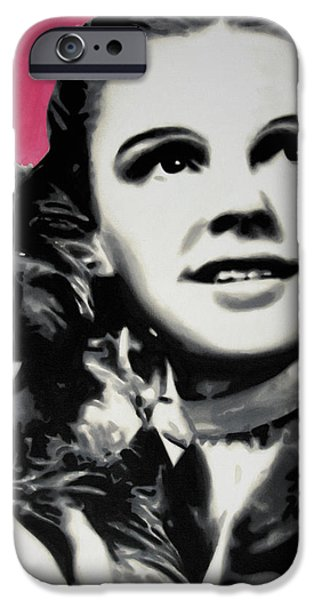 Ludzska Paintings iPhone Cases - - Dorothy - iPhone Case by Luis Ludzska