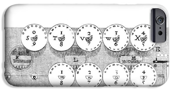 Mechanism iPhone Cases - 17th Century Calculator, Artwork iPhone Case by Library Of Congress