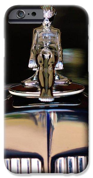 1934 Packard Hood Ornament 3 iPhone Case by Jill Reger