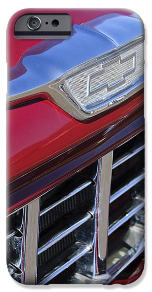 1955 Chevrolet Pickup Truck Grille Emblem iPhone Case by Jill Reger