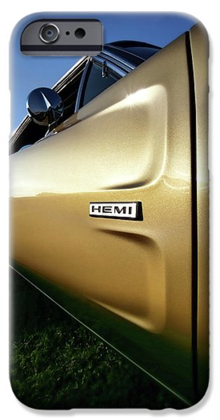 Super Bee iPhone Cases - 1968 Dodge Charger HEMI iPhone Case by Gordon Dean II