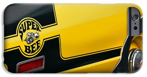 Super Bee iPhone Cases - 1970 Dodge Coronet Super Bee iPhone Case by Gordon Dean II