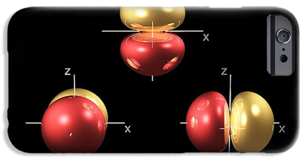 Electron Orbital iPhone Cases - 2p Electron Orbitals iPhone Case by Dr Mark J. Winter